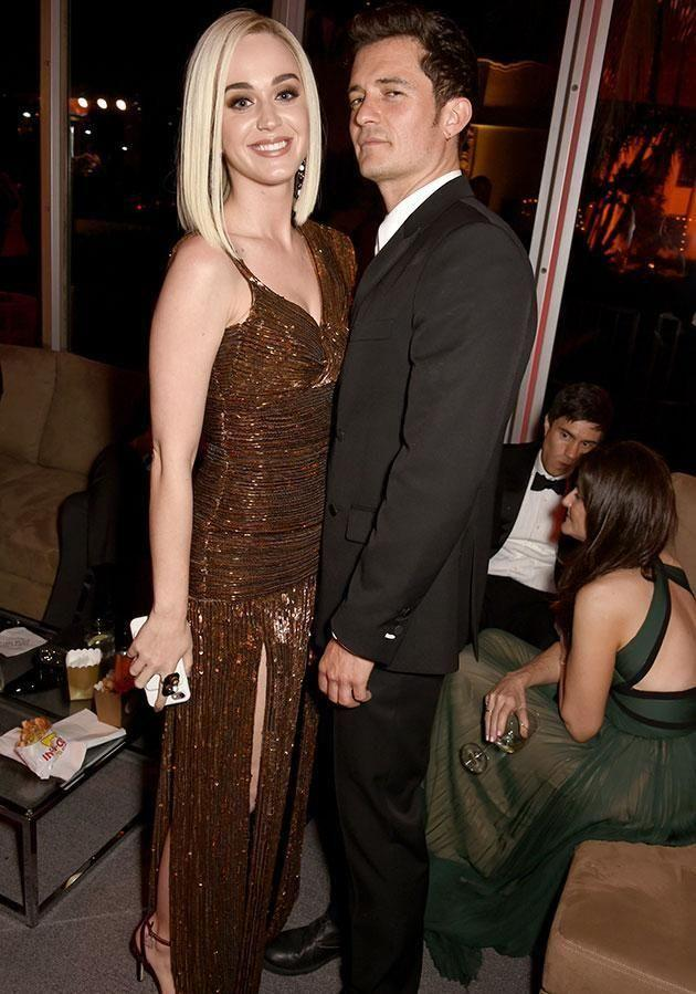 Katy and Orly announced their split just days after this pic was taken at February's Oscars after party. Source: Getty