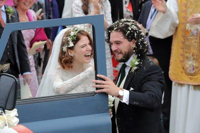 Rose Leslie and Kit Harington wedding