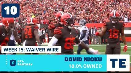 Here are the names you should target on the fantasy football waiver wire heading into Week 15 of the 2019 NFL season.