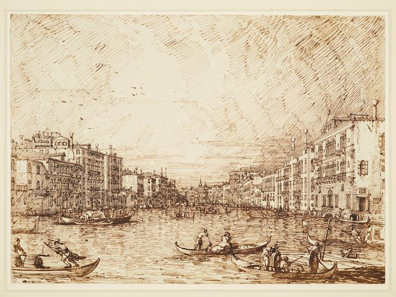 Drawing of The central stretch of the Grand Canal c.1742 - Credit: Royal Collection Trust