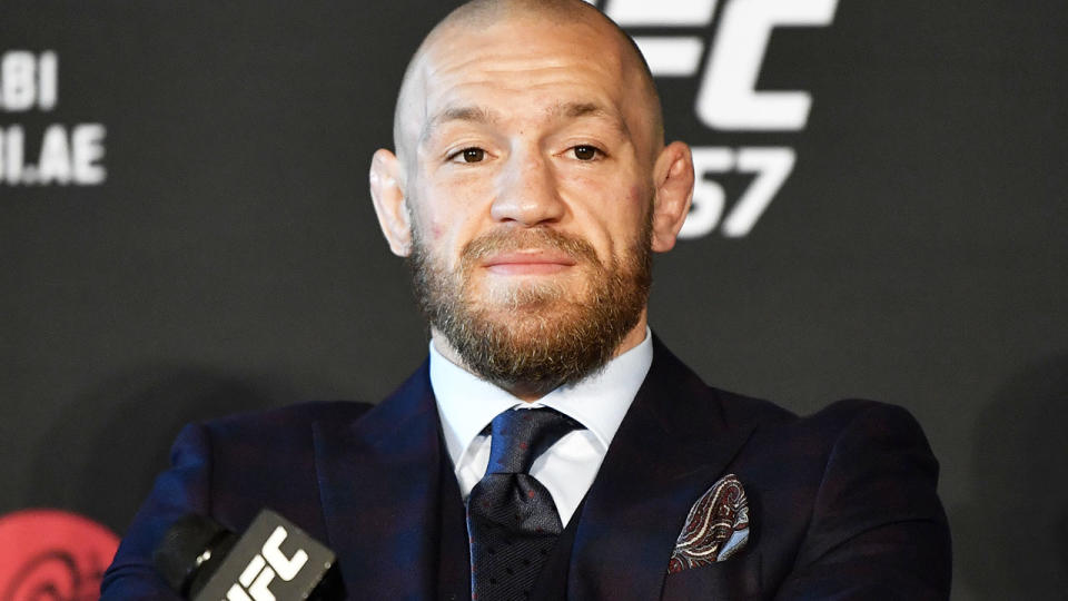 Conor McGregor, pictured here after UFC 257 in January.