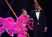 """<p>To prevent audience or crew members from figuring out who's competing, <a href=""""https://people.com/tv/masked-singer-nick-cannon-stars-identities-secret/?utm_campaign=peoplemagazine&xid=socialflow_twitter_peoplemag&utm_medium=social&utm_source=twitter.com"""" rel=""""nofollow noopener"""" target=""""_blank"""" data-ylk=""""slk:contestants' guests"""" class=""""link rapid-noclick-resp"""">contestants' guests</a> have to wear elaborate masks to conceal their identity, to avoid clues based on association. </p>"""