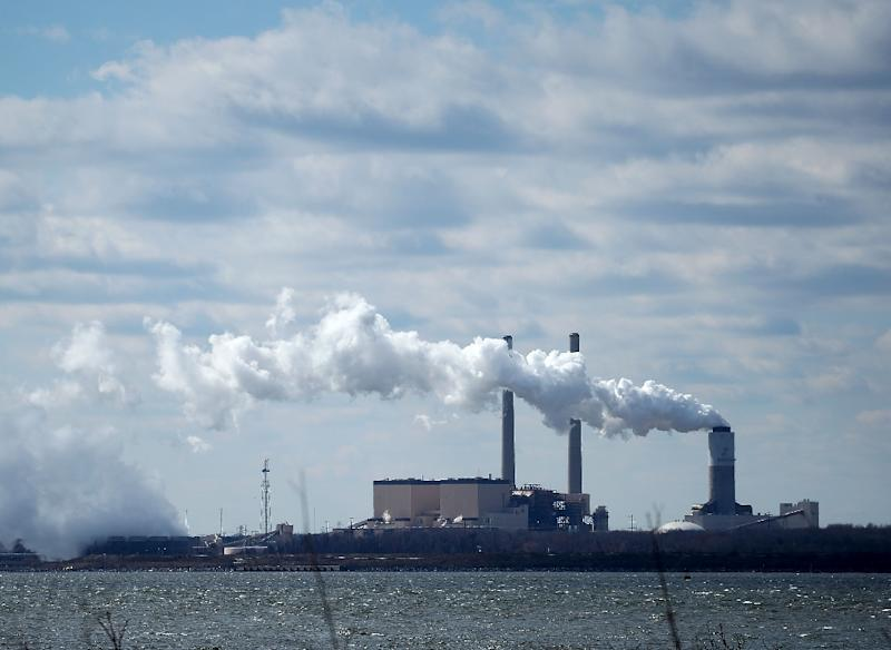 US President Donald Trump announced in 2017 his plans to kill the Clean Power Plan that had been introduced by former president Barack Obama two years earlier but had been put on hold by the Supreme Court (AFP Photo/MARK WILSON)