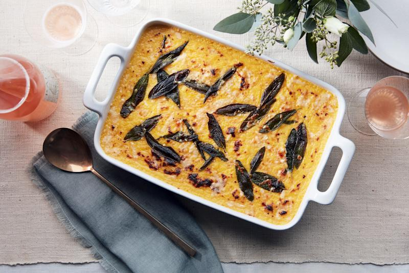 Secret butternut squash *and* pockets of fontina in baked polenta = more fun all around.