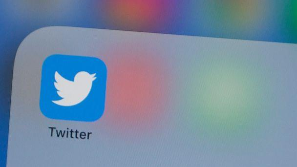 PHOTO: In this file photo taken on July 10, 2019, the Twitter logo is seen on a phone in this photo illustration in Washington, DC. (Alastair Pike/AFP via Getty Images)