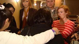 Reporters in Regina talk to the grandmother of a boy who died in foster care.