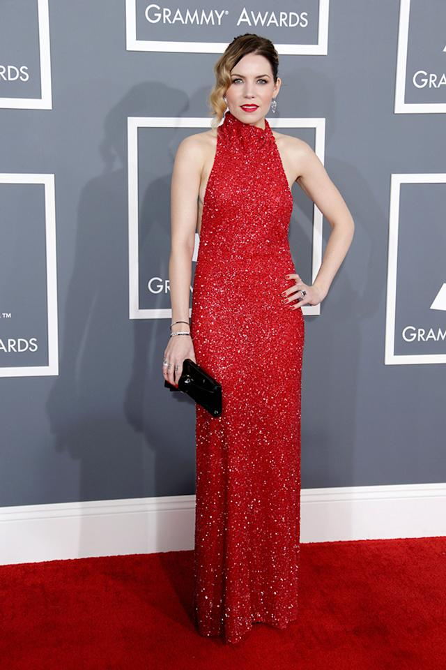 Sylar Grey arrives at the 55th Annual Grammy Awards at the Staples Center in Los Angeles, CA on February 10, 2013.