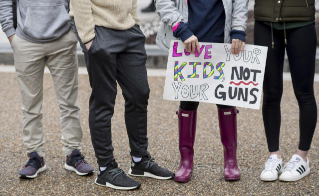 <p>Washington, D.C., area students and supporters protest against gun violence outside of the White House on Monday, Feb. 19, 2018, after 17 people were killed in a shooting at Marjory Stoneman Douglas High School in Parkland, Fla., last week. (Photo: Bill Clark/CQ Roll Call) </p>
