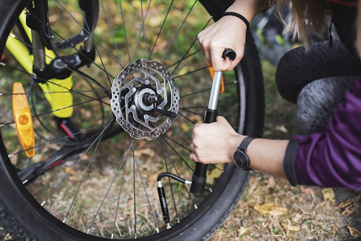 """<p>""""Probably the biggest mistakes I made when I started riding was running way too much <a href=""""https://www.bicycling.com/repair/a20004232/how-to-achieve-the-perfect-bike-tire-pressure/"""" rel=""""nofollow noopener"""" target=""""_blank"""" data-ylk=""""slk:tire pressure"""" class=""""link rapid-noclick-resp"""">tire pressure</a> for my size on the mountain bike. I used to run 40 PSI because I thought tires should be hard. Now I race at about 18 PSI with <a href=""""https://www.bicycling.com/skills-tips/a27628336/tubeless-tires-guide/"""" rel=""""nofollow noopener"""" target=""""_blank"""" data-ylk=""""slk:tubeless tires"""" class=""""link rapid-noclick-resp"""">tubeless tires</a>, which gives such a smoother ride and better traction."""" —<strong>Pendrel</strong></p><p>""""One thing I wish I knew as a newbie was bicycle gearing. For my 10-year<a href=""""https://www.bicycling.com/racing/a27117645/triathlon-distances/"""" rel=""""nofollow noopener"""" target=""""_blank"""" data-ylk=""""slk:triathlon"""" class=""""link rapid-noclick-resp"""">triathlon</a> career and for my first three years of cycling, I assumed the cassette on a wheel was the same for everyone. I had no idea there was gearing available that could make it easier on hills or more powerful on descents. Then someone asked me, 'What kind of gear ratio did you use for the race last weekend?' and I responded, 'Huh? What do you mean?' I got an education after that! I highly suggest going to your local bike shop and/or asking an experienced cyclist to explain gear, ratios, and <a href=""""https://www.bicycling.com/repair/a34226100/how-to-replace-a-cassette/"""" rel=""""nofollow noopener"""" target=""""_blank"""" data-ylk=""""slk:cassettes"""" class=""""link rapid-noclick-resp"""">cassettes</a> to you … before your 10-year mark of participation."""" <strong>—Kathryn Bertine, former pro road racer and author of <em><a href=""""https://www.amazon.com/Stand-activism-progress-happens-change/dp/1735901407/ref=sr_1_3?tag=syn-yahoo-20&ascsubtag=%5Bartid%7C2143.g.37607590%5Bsrc%7Cyahoo-us"""" rel=""""nofollow noopener"""" target=""""_blank"""" data-ylk=""""sl"""