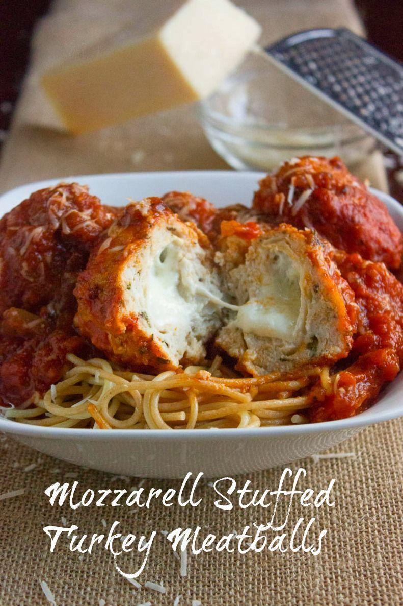 """<p>These <em>incredibly</em> delicious meatballs will be a big hit at any dinner. </p><p><strong>Get the recipe at <a href=""""https://bsugarmama.com/mozzerella-stuffed-turkey-meatballs/"""" rel=""""nofollow noopener"""" target=""""_blank"""" data-ylk=""""slk:Brown Sugar"""" class=""""link rapid-noclick-resp"""">Brown Sugar</a>.</strong><strong><br></strong></p>"""