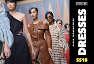 <p><i>See all of the best dresses from Milan Fashion Week. (Photo: Getty Images, Art: Quinn Lemmers for Yahoo Style) </i></p>
