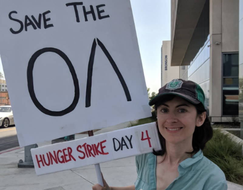 Modern day Gandhi protests Netflix cancelling The OA with hunger strike