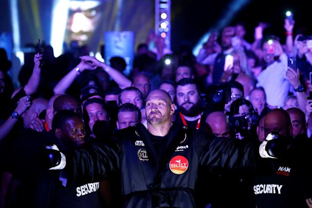 Boxing - Tyson Fury v Sefer Seferi - Manchester Arena, Manchester, Britain - June 9, 2018 Tyson Fury before the fight Action Images via Reuters/Andrew Couldridge