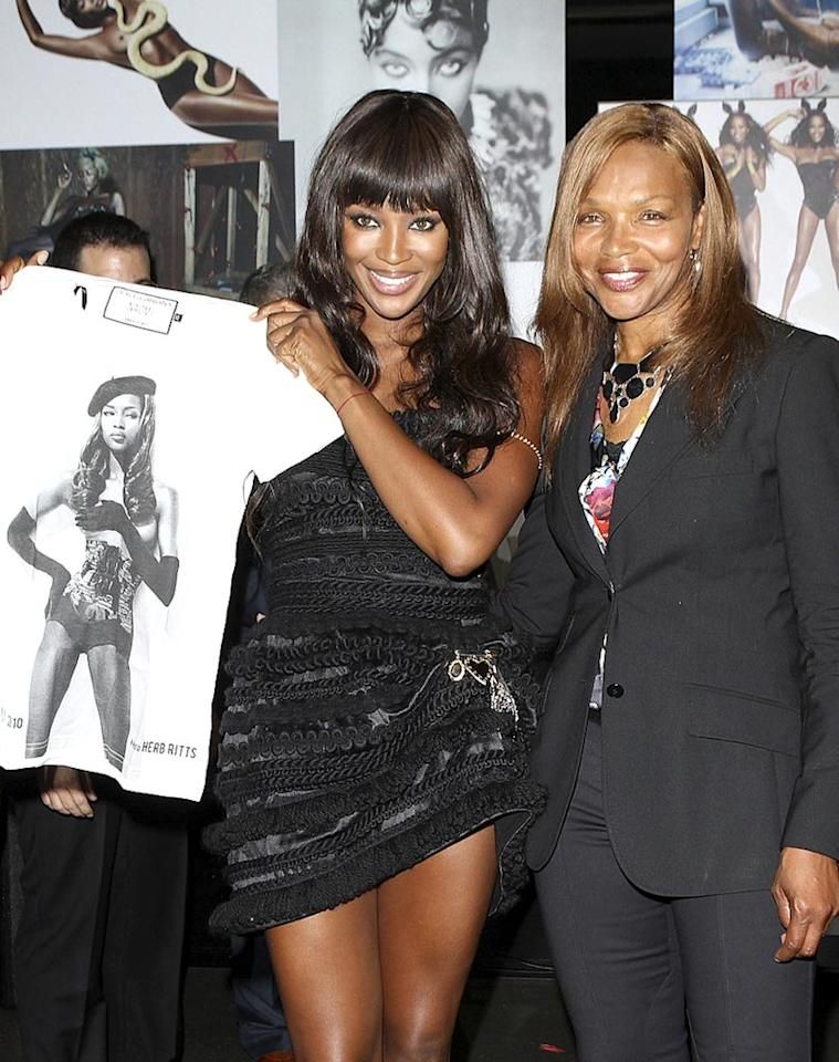 """Naomi Campbell's mom, Valerie, was also beaming with pride while celebrating the 25th anniversary of the supermodel's runway career at Dolce & Gabbana's flagship store in London. Apparently, good looks run in the family! Smart Pictures/<a href=""""http://www.pacificcoastnews.com/"""" target=""""new"""">PacificCoastNews.com</a> - September 21, 2010"""