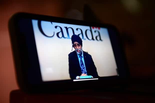 Sajjan speaks on a livestream during a virtual news conference in Ottawa on April 29. The federal government is conducting another external review of the military's handling of sexual assault, harassment and other misconduct.