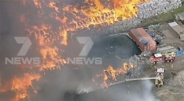 It's understood the fire started on Wednesday and has since blown up again. Photo: 7 News