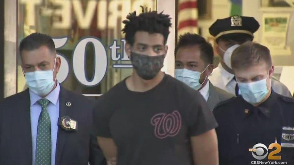 Police arrested 29-year-old Jordan Burnette on Saturday, May 1, in connection with a slew of hate crimes at Bronx synagogues in April. / Credit: WCBS