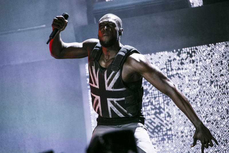Singer Stormzy performs on the third day of Glastonbury Festival at Worthy Farm, Somerset, England, Friday, June 28, 2019. (Photo by Joel C Ryan/Invision/AP)