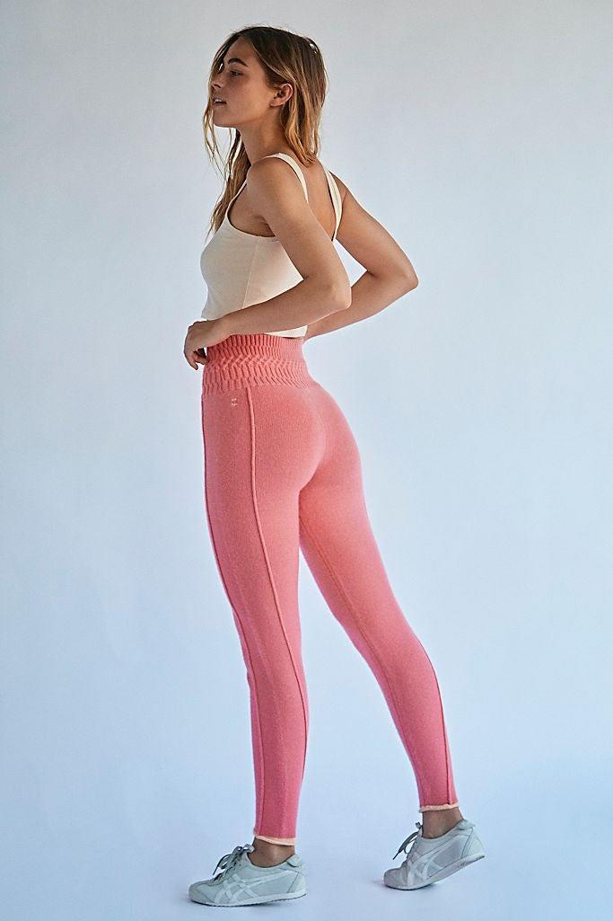 "<h2>FP Movement High-Rise Roll-On Cashmere Leggings</h2> <br>Don't worry, we wouldn't go for more than five minutes on the subject of pants without bringing up leggings. As a stretchy knit fiber, cashmere lends itself beautifully to our favorite type of loungewear, and we couldn't resist the pretty coral pink of this FP Movement pair.<br><br><strong>FP Movement</strong> High-Rise Roll On Cashmere Leggings, $, available at <a href=""https://go.skimresources.com/?id=30283X879131&url=https%3A%2F%2Fwww.freepeople.com%2Fshop%2Fhigh-rise-roll-on-cashmere-leggings"" rel=""nofollow noopener"" target=""_blank"" data-ylk=""slk:Free People"" class=""link rapid-noclick-resp"">Free People</a>"