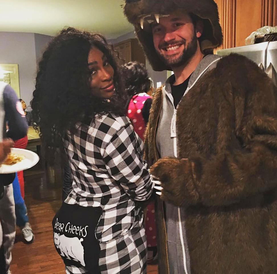 "<p>The pair hit up a <a rel=""nofollow"" rel=""nofollow"">costume party </a>in cheeky ""bear necessities"" getups. </p>"
