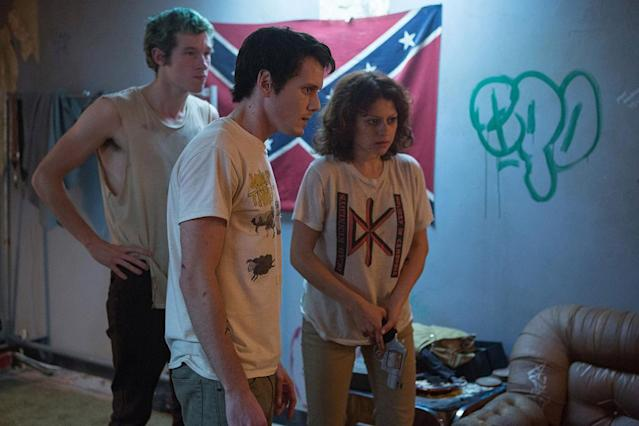 <p>Jeremy Saulnier's bloody thriller follows an unsuccessful punk band, led by the late Anton Yelchin, as they end up with a gig at a white supremacist bar in the middle of nowhere. The venue happens to be owned and operated by none other than Sir Patrick Stewart, in one of the most exciting (and easily the most terrifying) roles of his career. It's definitely not for the squeamish. (Available on Amazon, Google Play, iTunes, YouTube, and Vudu.) — <em>B.A. </em>(Photo: Scott Green, A24 /courtesy Everett Collection) </p>