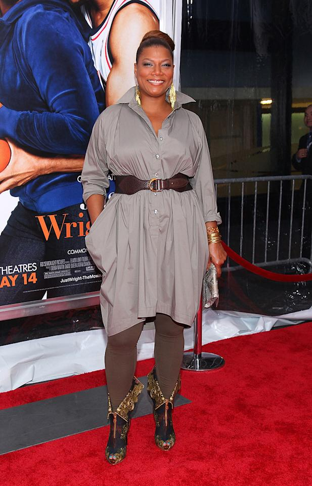 "<a href=""http://movies.yahoo.com/movie/contributor/1800019133"">Queen Latifah</a> at the New York City premiere of <a href=""http://movies.yahoo.com/movie/1810088527/info"">Just Wright</a> - 05/04/2010"