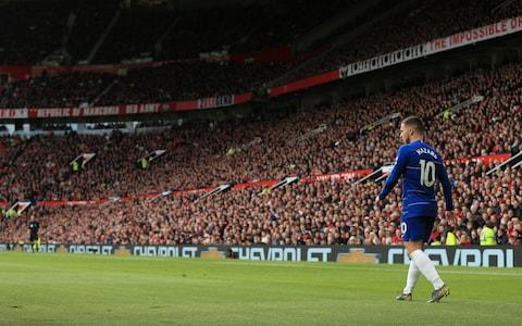 Eden Hazard of Chelsea looks on during the Premier League match between Manchester United and Chelsea - Credit: OFFSIDE