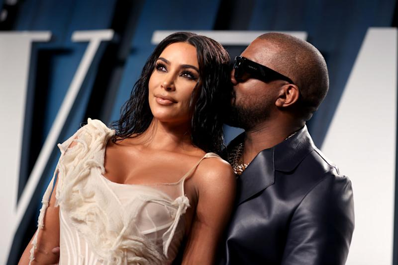 Kim Kardashian und Kanye West auf der Vanity Fair Oscar Party. (Bild: Getty Images)