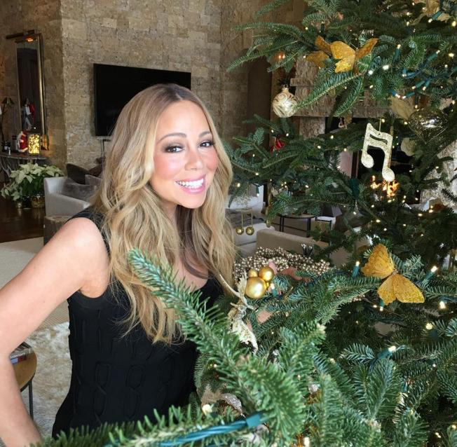 ms christmas herself that would be mariah carey showed off - Celebrities Christmas Decorated Homes