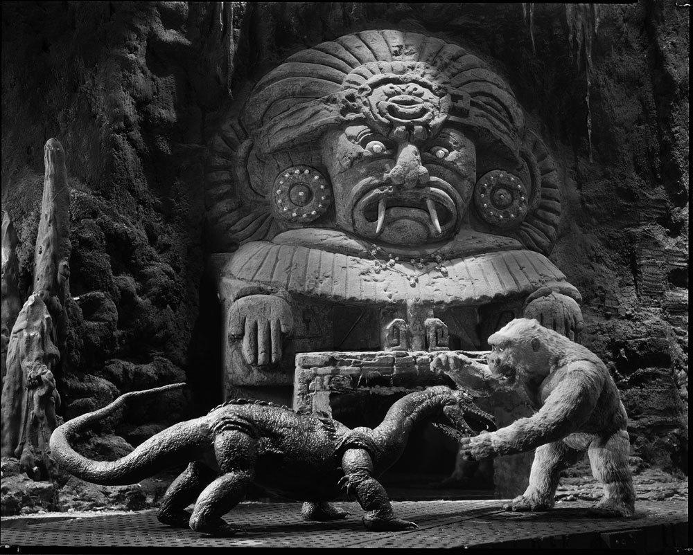 """<p>Rush-released nine months after <em>King Kong</em>, this sequel was helmed by Ernest B. Schoedsack, who co-directed the original with Cooper. Of the original stars, only Armstrong was back as embattled impresario Carl Denham, who returns to Skull Island and discovers """"Little Kong,"""" whom he believes is the son of the ape. While not as critically or commercially successful as its predecessor, <em>Son of Kong</em> did feature some more nifty model work by O'Brien. (Photo: Warner Bros.) </p>"""