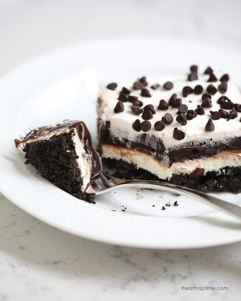 """<p>This one's for the purists and the chocolate lovers.  It's a deliciously simple recipe to get you hooked on the dessert lasagna craze.</p><p><a rel=""""nofollow"""" href=""""http://www.iheartnaptime.net/chocolate-lasagna/"""">Get the recipe from I Heart Nap Time »</a><br></p><p><a rel=""""nofollow"""" href=""""http://www.goodhousekeeping.com/food-recipes/dessert/g3065/dessert-lasagnas/"""">From Good Housekeeping</a></p>"""