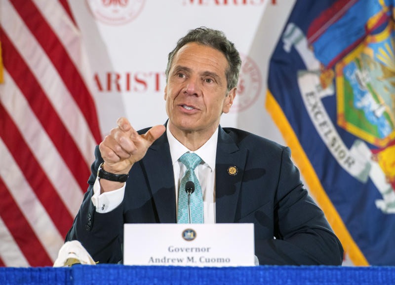 New York Gov. Andrew Cuomo said Sunday that sports in the state can reopen facilities. (Darren McGee/Office of Governor Andrew M. Cuomo via AP)