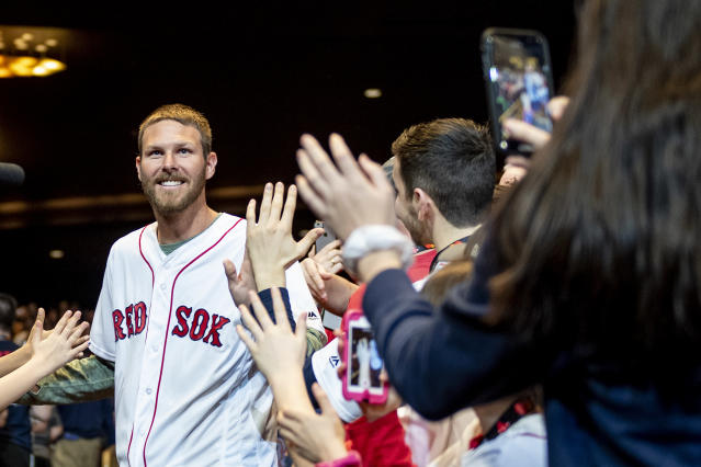 LEDYARD, CT – JANUARY 18: Chris Sale #41 of the Boston Red Sox is introduced at a Red Sox Town Hall during the 2019 Red Sox Winter Weekend on January 18, 2019 at Foxwoods Resort & Casino in Ledyard, Connecticut. (Photo by Billie Weiss/Boston Red Sox/Getty Images)