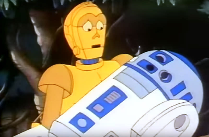 C-3PO and R2-D2 headlined the 'Star Wars' cartoon series 'Droids,' which ran from 1985 to 1986 on ABC (Photo: YouTube)
