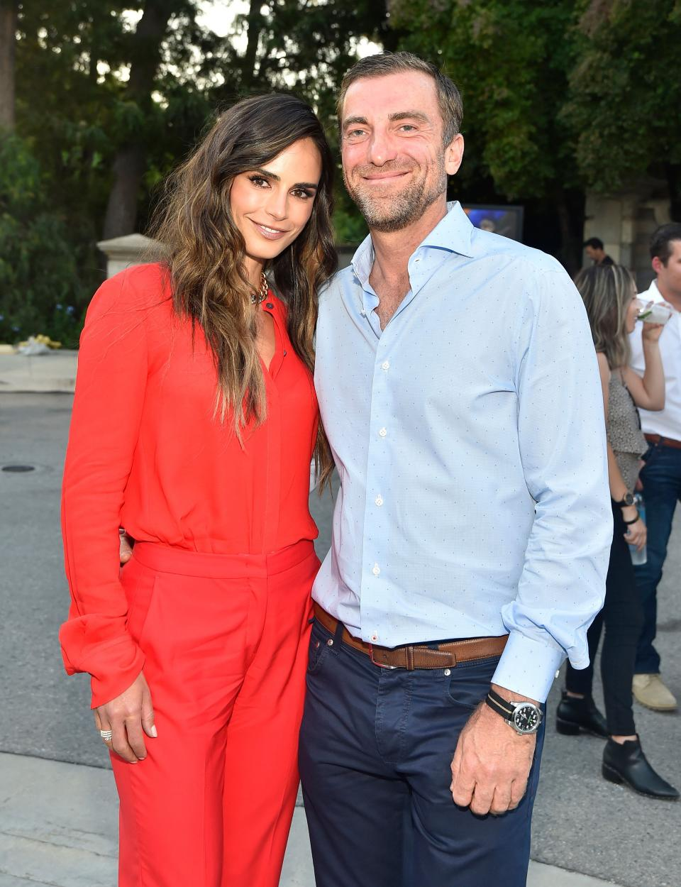 UNIVERSAL CITY, CALIFORNIA - JUNE 26: (L-R) Jordana Brewster and Mason Morfit attend CTAOP's Night Out on June 26, 2021 in Universal City, California. (Photo by Stefanie Keenan/Getty Images for CTAOP)