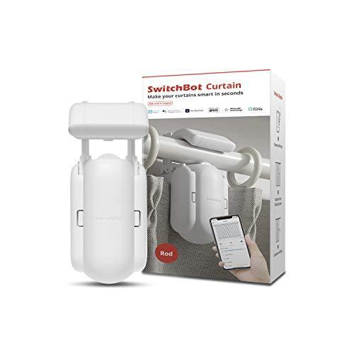 SwitchBot Curtain Smart Electric Motor - Wireless App or Automate Timer Control, Add Hub Mini/P…