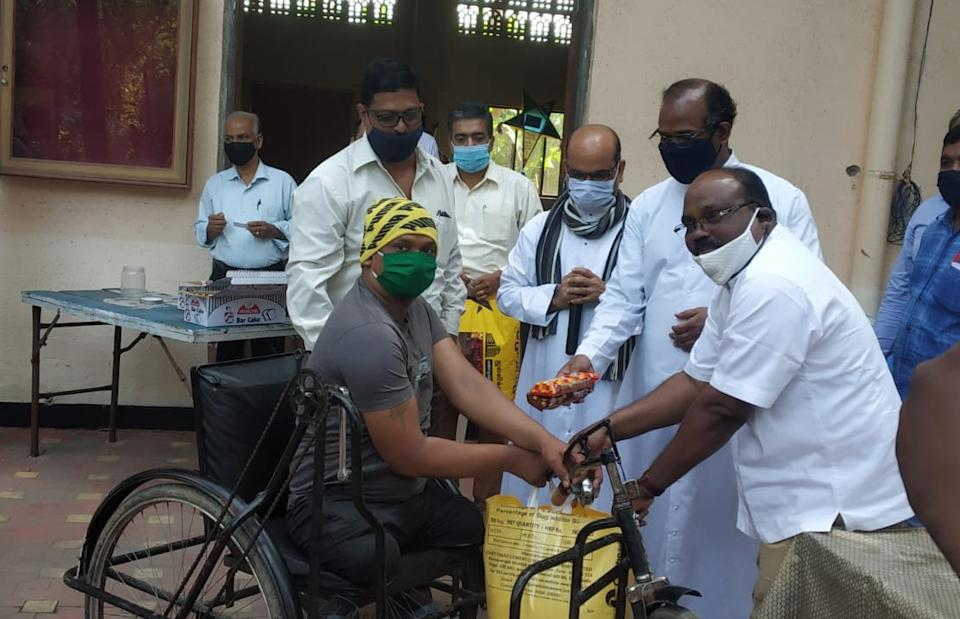 Since the pandemic began last year, in Kalyan, a suburb on the outskirts of Mumbai, St Thomas Cathedral & Pilgrim Centre has been distributing food kits with rice, dal, sugar and other essentials to Covid-19 affected families and also differently abled persons