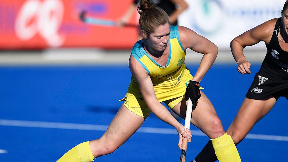 Former Hockeyroos captain Georgina Morgan is seen here in action for Australia. Pic: Getty