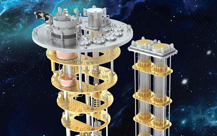 A rendering of what the final Rigetti quantum computer will look like - Oxford Instruments