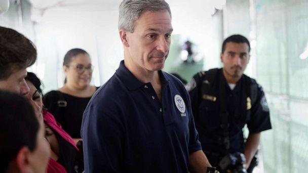 PHOTO: Acting director of Citizenship and Immigration Services Ken Cuccinelli visits the Migration Protection Protocols Immigration Hearing Facility, Sept. 17, 2019, in Laredo, Texas. (Eric Gay/AP)