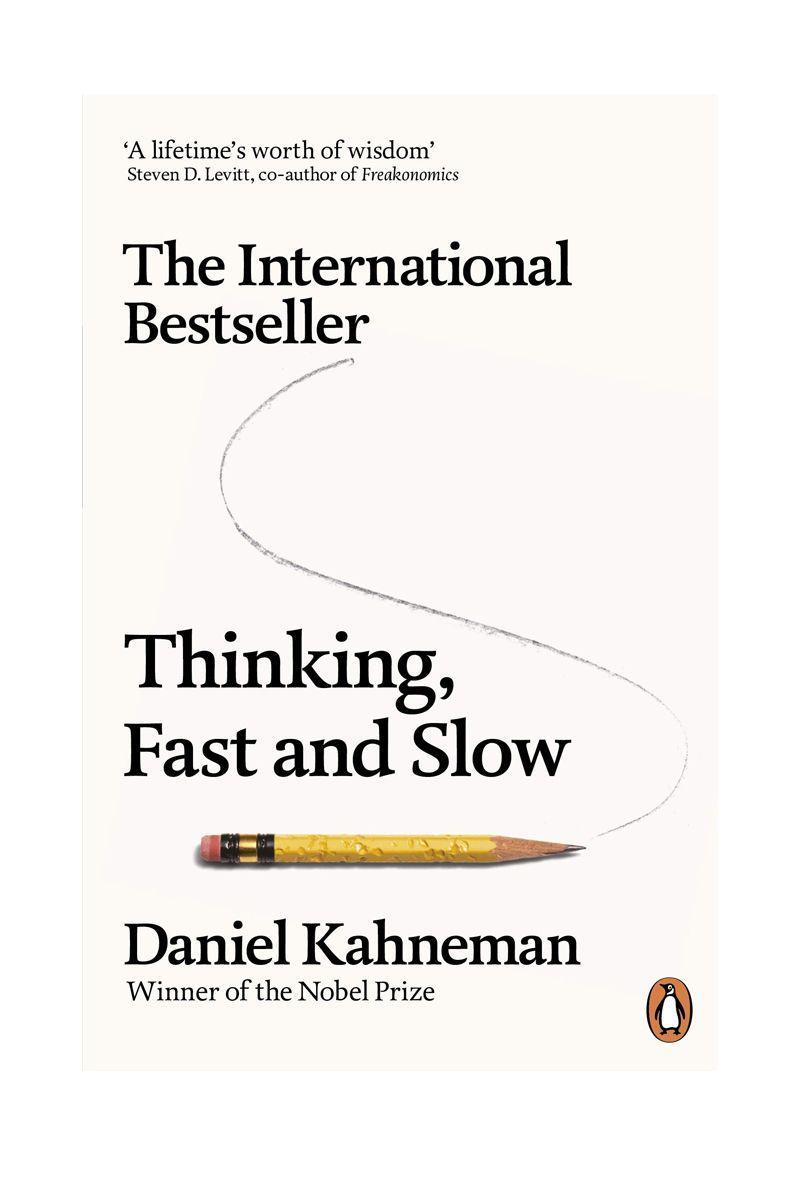 """<p>by Daniel Kahneman</p><p>Want to come to grips with error and prejudice and slow down your thinking? Then this is the book for you. </p><p>£6.59</p><p><a class=""""link rapid-noclick-resp"""" href=""""https://www.amazon.co.uk/Thinking-Fast-Slow-Daniel-Kahneman/dp/0141033576/ref=asc_df_0141033576/?tag=hearstuk-yahoo-21&linkCode=df0&hvadid=310856639426&hvpos=1o25&hvnetw=g&hvrand=1005554339682659587&hvdev=c&hvlocphy=9046490&hvtargid=pla-394582189334&psc=1&psc=1&th=1&ascsubtag=%5Bartid%7C1921.g.30324280%5Bsrc%7Cyahoo-uk"""" rel=""""nofollow noopener"""" target=""""_blank"""" data-ylk=""""slk:SHOP NOW"""">SHOP NOW</a></p>"""