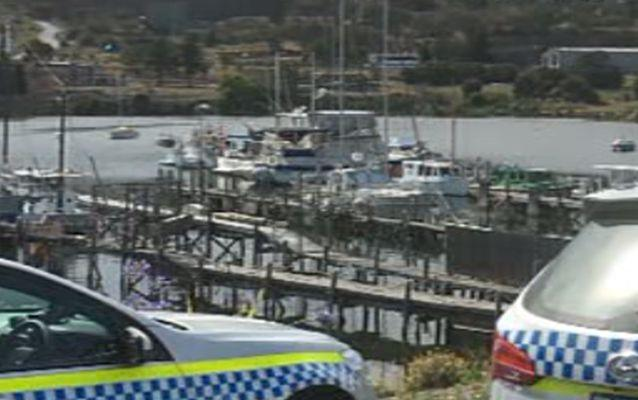 The boat was moored at the Gepp Parade marina overnight. Source: 7 News.