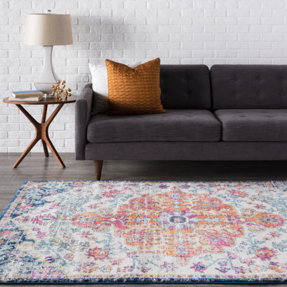 "<h3><a href=""https://boutiquerugs.com/"" rel=""nofollow noopener"" target=""_blank"" data-ylk=""slk:Boutique Rugs"" class=""link rapid-noclick-resp"">Boutique Rugs</a></h3><br><strong>Good for</strong>: Long-lasting rugs and runners in a variety of sizes, designs and colors. <br><br><strong>What to love:</strong> Boutique Rugs has over 15 years of experience in the rug business, which should make any customer feel confident while shopping the retailer's wide range of offerings. Expect to find exquisitely designed and high-quality handwoven and machine-woven area rugs at competitive prices. <br><br><strong>Hauteloom</strong> Bodrum Area Rug, $, available at <a href=""https://go.skimresources.com/?id=30283X879131&url=https%3A%2F%2Fboutiquerugs.com%2Fbodrum-area-rug%2F"" rel=""nofollow noopener"" target=""_blank"" data-ylk=""slk:Boutique Rugs"" class=""link rapid-noclick-resp"">Boutique Rugs</a>"