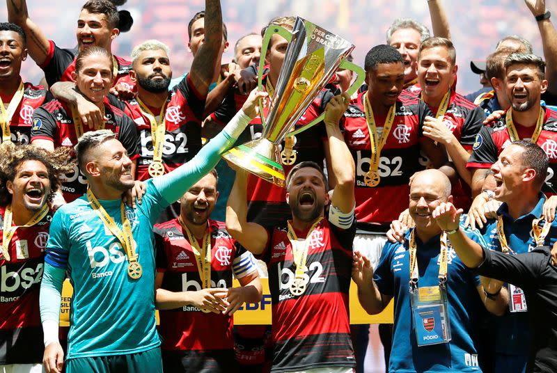 Flamengo take revived Brazilian Supercup with 3-0 win