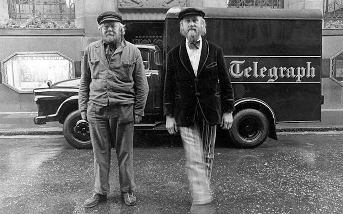 'The Alberts', Douglas Gray (left) and his brother Tony: they supported their stage career by driving newspaper delivery vans taking The Sunday Telegraph to far-flung parts of East Anglia