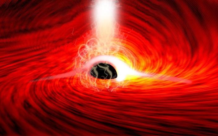 Astronomers see the back of a black hole for the first time