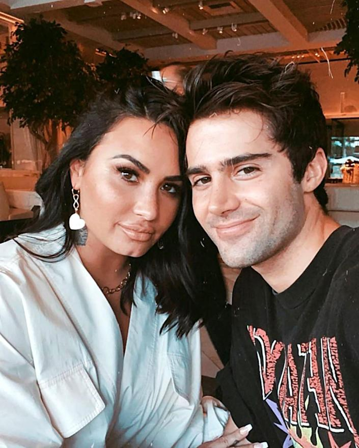 Demi Lovato and Max Ehrich pictured after their engagement announcement in July.  (Max Ehrich / Instagram)