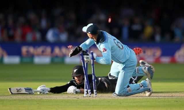 England won the 2019 World Cup by the slimmest of margins after Jos Buttler ran out New Zealand's Martin Guptill