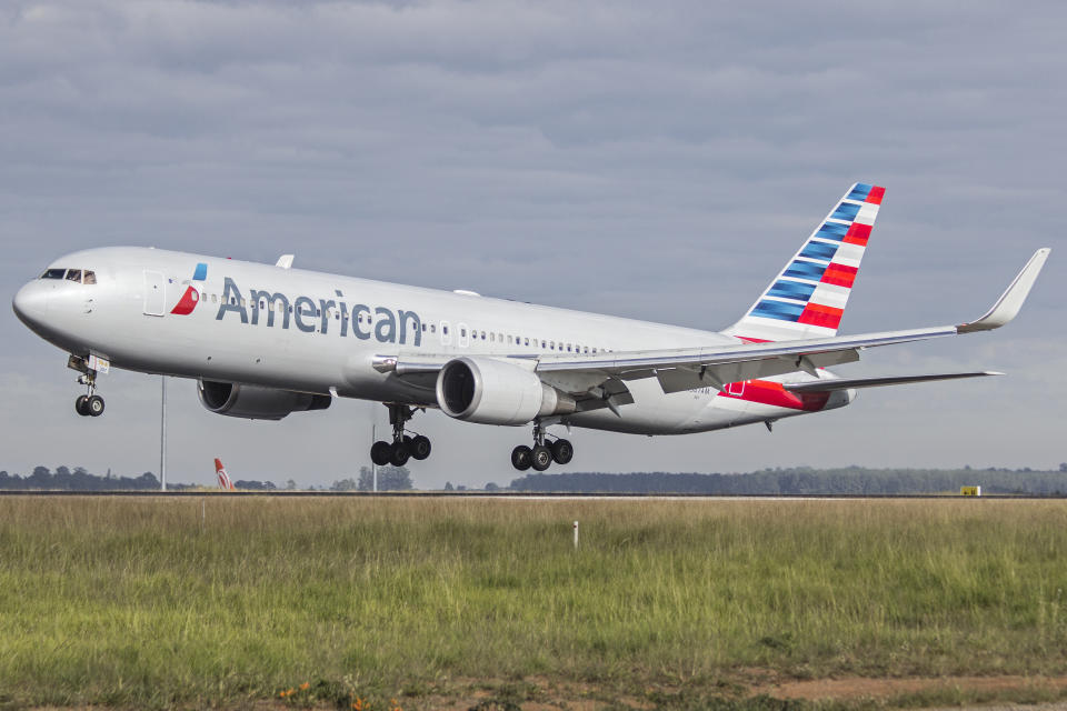 Boeing 767 300 of American Airlines at Viracopos Campinas Airport, Sao Paulo Brazil