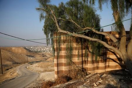 A view of West Bank city of Jericho is seen from the road inside the Israeli settlement of Vered Yericho in the occupied West Bank